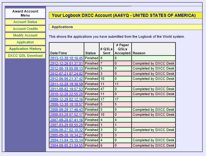 DXCC — Logbook of the World (LoTW) Help Pages