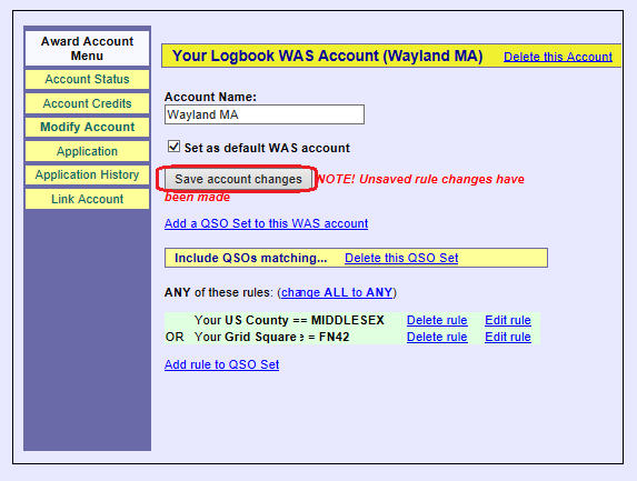 WAS Setup — Logbook of the World (LoTW) Help Pages